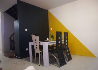 Rénovation d'une salle de séjour / salle à manger