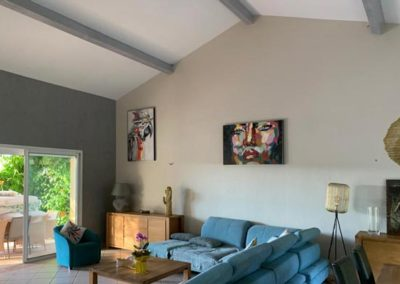 Relooking salon (peinture, stuc & lasure)