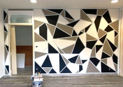 Peinture murale décorative chambre
