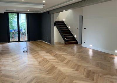 Rénovation salle de séjour (parquet bois)